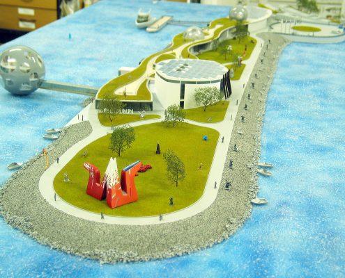farebný prezentačný model galérie Danubiana