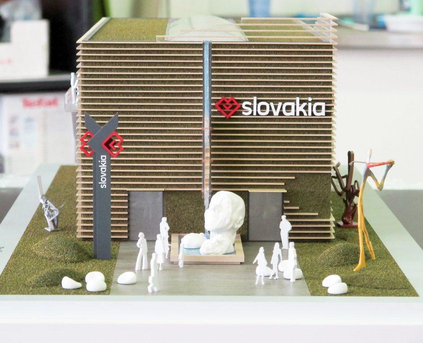 dizajnový model výstavného pavilónu Expo 2015
