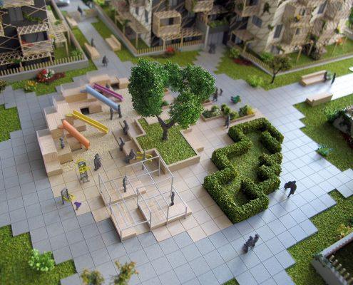 Farebný prezentačný model bytového súboru