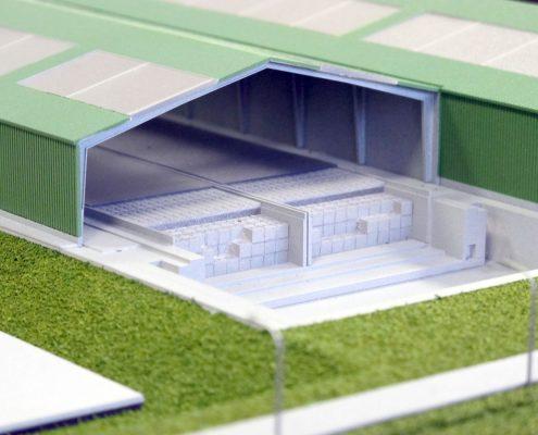 Farebný prezentačný model úložiska jadrového odpadu v Mochovciach