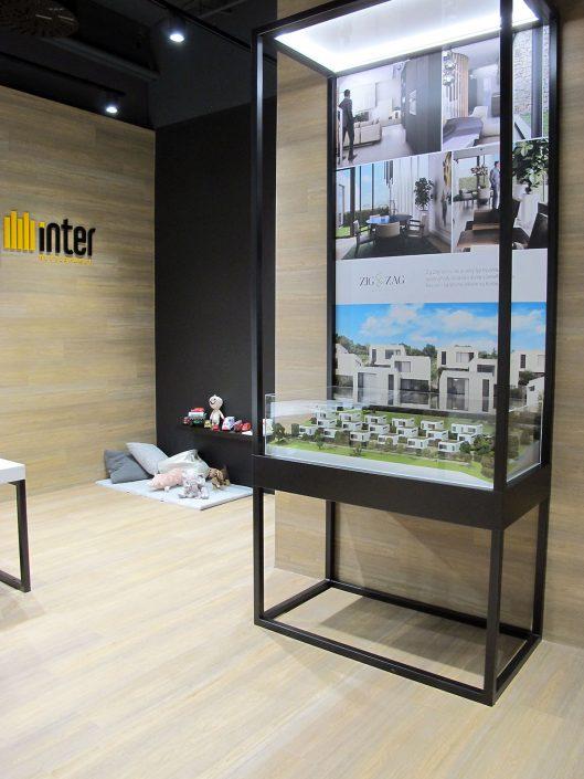 Farebný prezentačný model bytových domov