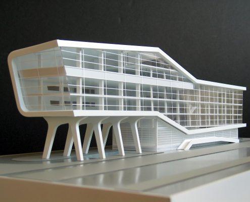 model atypickej polyfunkčnej budovy relax centrum