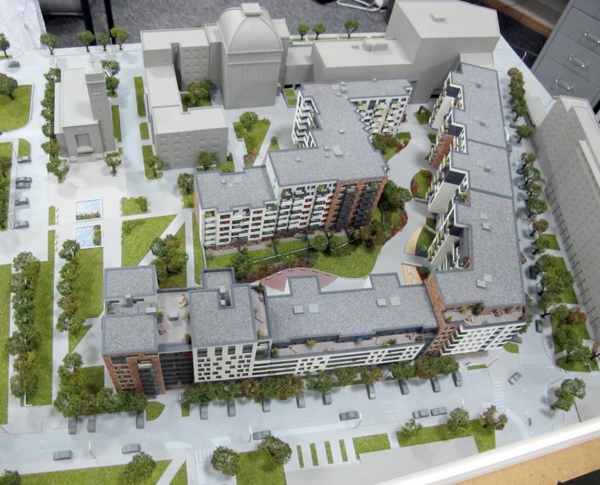 detailný model bytového komplexu