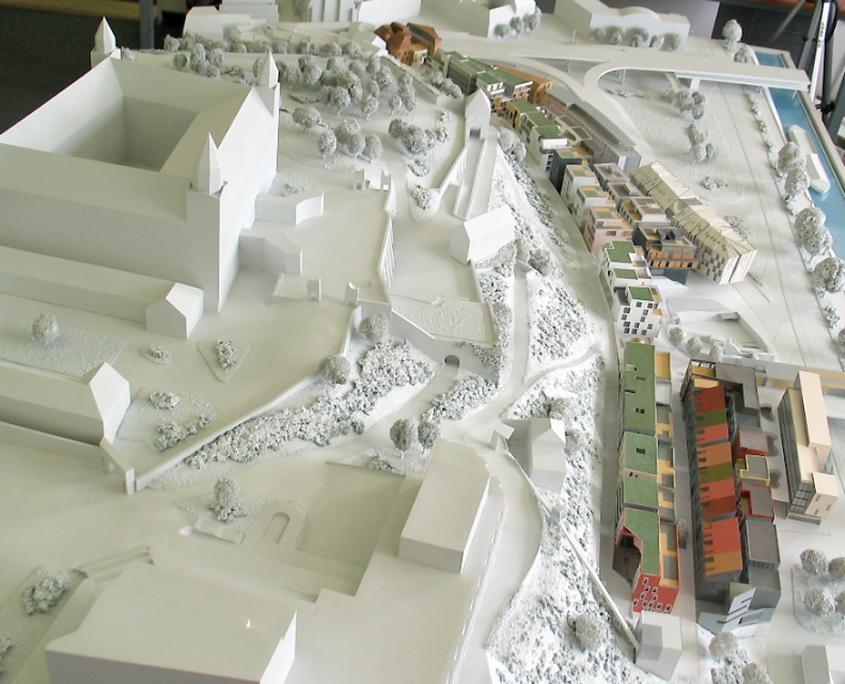 etapový model polyfunkčného komplexu Vydrica pod Bratislavským hradom