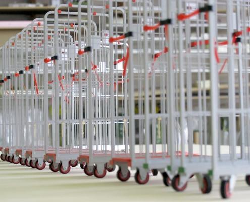 farebný model obslužných vozíkov Tesco