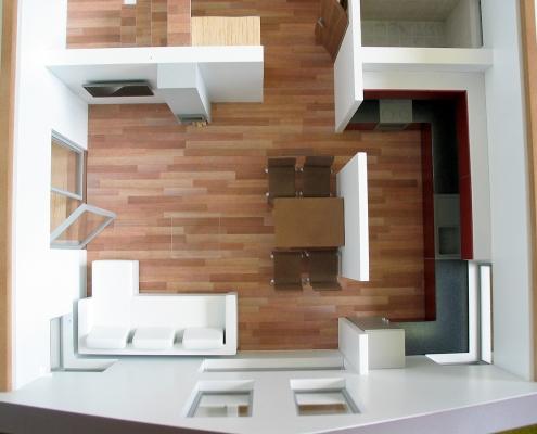 Farebný rozoberateľný model dvojposchodového rodinného domu