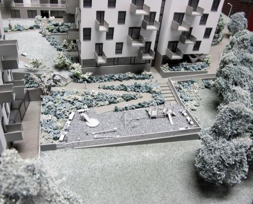 Farebný prezentačný model súboru bytových objektov