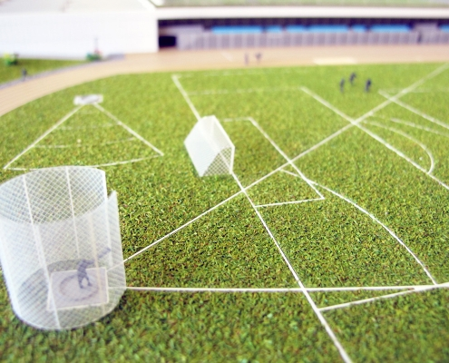 prezentačný model obnovy športového areálu