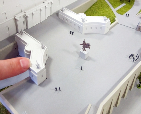 Hmotový model historického objektu Bratislavského hradu