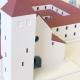 Farebný prezentačný model kláštora srezovou hranou