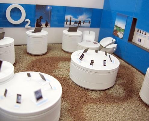 Farebný dizajnový model interiéru predajn