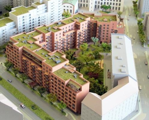 Farebný etapový detailný model mestskej časti