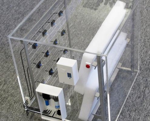 Model hybridného adiabatického zvlhčovača vzduchu