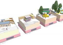 Farebné mini modely objektov asituácií podľa zadania klienta