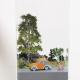 Mini model situácie pri lese priohnisku